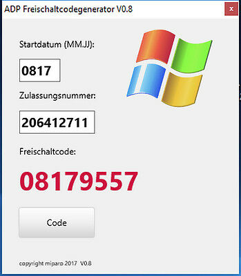 Freischaltcode ADP / Merkur Software Android + Windows PRIVAT