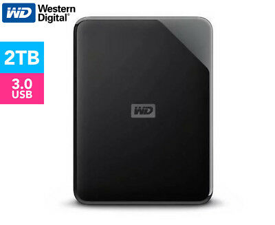 WD Elements SE USB 3.0 2TB Portable Hard Drive - Black