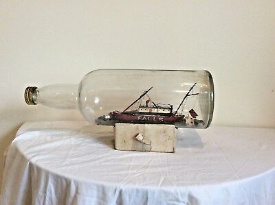 Rare, Trinity House Light Ship In A Bottle For Restoration.