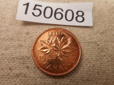 1965 Canada One Cent - Very Nice - Red - Higher Grade Album Coin - # 150608