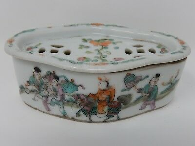Old Chinese porcelain cricket box The Qing Dynasty period Jiaqing