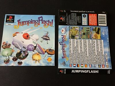 Jumping Flash! Inserts Front & Back - Sony PlayStation PS1 - Free Postage
