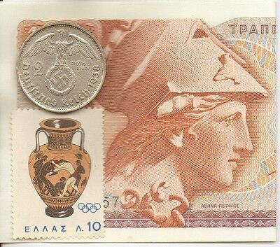 - *antique Greek Stamp + ww2..