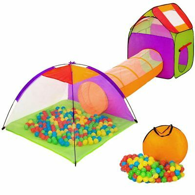 Tenda Igloo Pieghevole Bambini con 200 Palline Colorate + Tunnel + Casetta