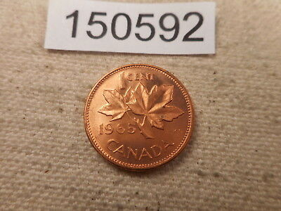1965 Canada One Cent - Very Nice - Red - Higher Grade Album Coin - # 150592