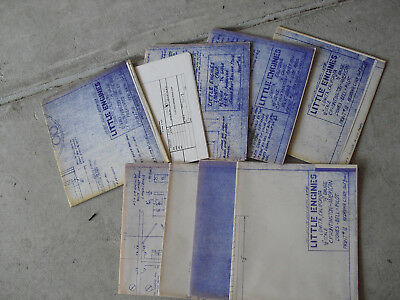 Lot of 9 Vintage 197 Little Engines Train Part Blueprints Boiler Gear Others