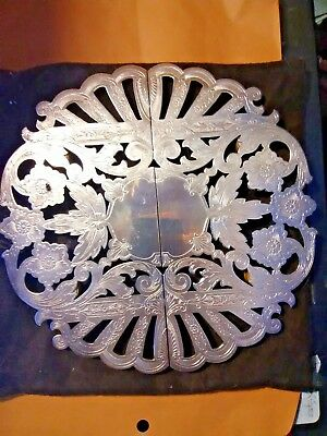 WALLACE SILVERSMITHS SILVERPLATE TRIVET ORNATE EXPANDING  # 7382 Vintage