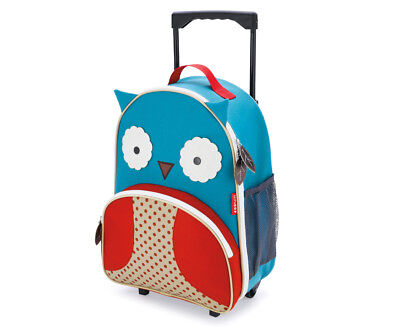 Skip Hop Kids' Owl Zoo Rolling Luggage - Blue/Red