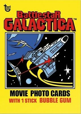 2018 Topps 80th Anniversary Wrapper Art Card #83 - 1978 Battlestar Galactica
