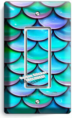 Mermaid Tail Fish Turquoise Scales Pattern Outlet Wall Plate Room Art Home Decor 10 99 Picclick
