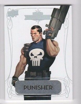 2016 Upper Deck Marvel Gems Exquisite Name Plate 20 Punisher 02/10