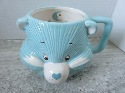1984 Care Bears Bedtime Bear Ceramic Mug Blue American Greetings