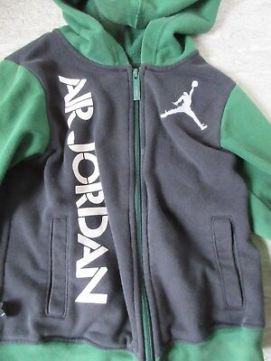 Child's Air Jordan Green & Black Hoodie 5-7 yrs 7 LGG