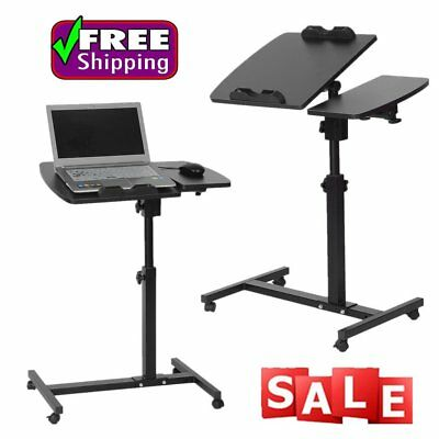 Adjustable Height Laptop Stand Desk Portable Bed Sofa Learning