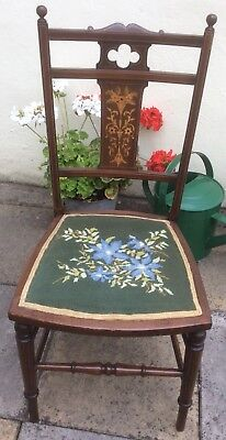 Antique Inlaid Mahogany Bedroom Chair / Hall Chair