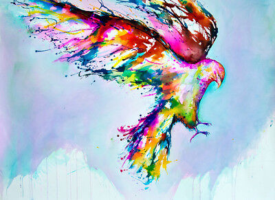 Unframed Canvas Print A4 Size High Quality Watercolor Eagle Home Decor