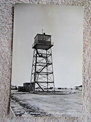 1940's CENTRAL TOWER, LUKE FIELD, PHOENIX, ARIZONA REAL PHOTO POSTCARD