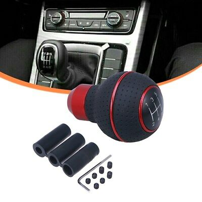 Universal Red & Black Aluminum 5 Speed Manual Shift Knob Gear Shifter Stick Nob