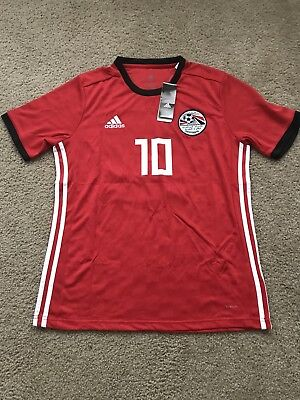 2018 WORLD CUP Egypt Mohamed Salah Home Jersey Large red mens large ... ceb476c3d