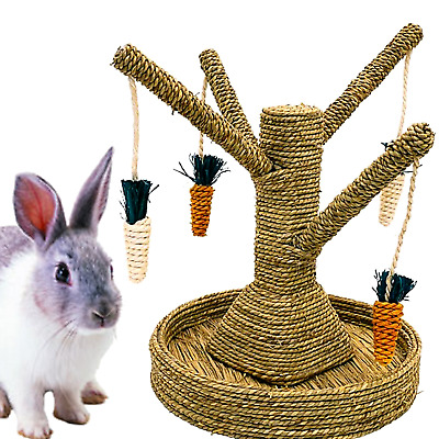 Rosewood Boredom Breaker Bunny Fun Tree Rabbit Guinea pig Hutch Toy Gnaw Treat
