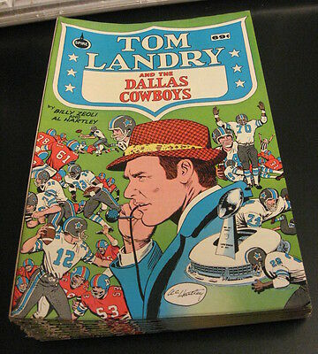 Warehouse Find! TOM LANDRY/DALLAS COWBOYS Comic, Spire/1973 VF/NM Crisp/Unread!