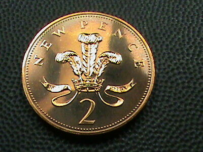 GREAT  BRITAIN    2 Pence   1975   PROOF  ,   $ 2.99  maximum  shipping  in  USA
