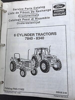ford new holland 7840 8240 8340 6 cylinder tractor parts catalog rh picclick com Ford 5610 ford 7810 owners manual