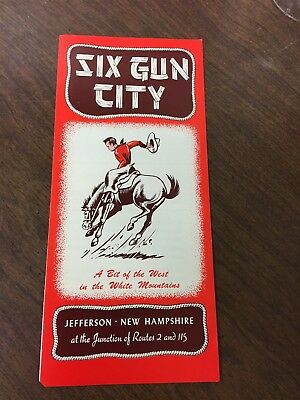Original 1960s Six Gun City Jefferson New Hampshire Brochure