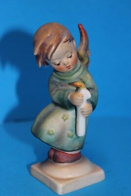 TMK-3 Stylized Bee Goebel HUMMEL 21/0 Heavenly Angel w/Candle Figurine 4""