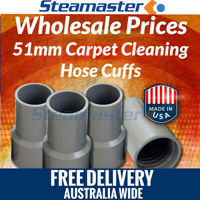 "Carpet Cleaning Solution Hose 4 x 2"" Carpet Cleaning Vacuum Hose Cuffs FREE SHIP"
