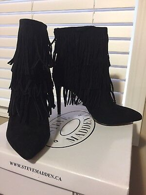 Steve Madden booties 8.5 leather Brand New In Box