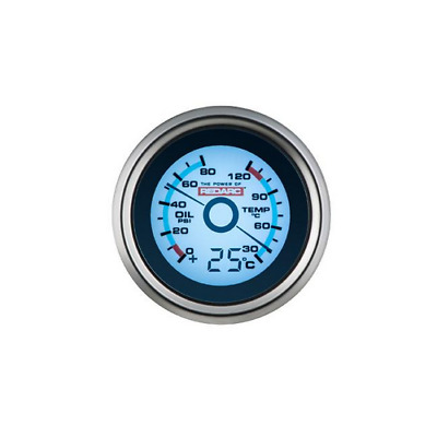 Redarc Oil Pressure Amd Water Temperature Dual Gauge 52Mm G52-Pwt