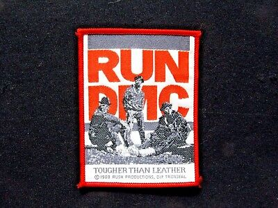 Run Dmc Official 1988 Vintage Patch Uk Import Sew-On Not Shirt Pin Badge Button
