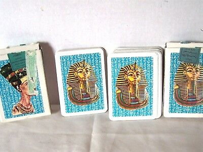 Playing Cards Nefertiti and King Tutankhamen two decks of Egyptian
