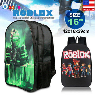 Roblox Backpack Children Boys School Bag Student Laptop Kids Rucksack 16""
