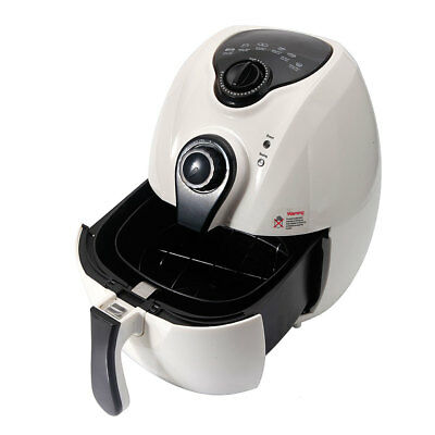 1500W Smart Multifunctional Electric Air Fryer Adjustable Temperature Time White