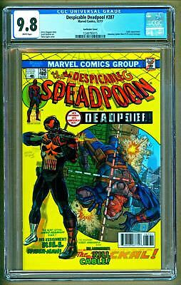 Despicable Deadpool #287 Cgc 9.8 Nm Homage Cover Amazing Spider-Man #129 Cable