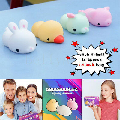 Mini Cute Squishy Animal Soft Silicone Toys Fidget Hand Squeeze Pinch Toy Gift