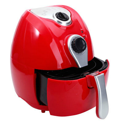 1500W Smart Multifunctional Electric Air Fryer Adjustable Temperature Time Red