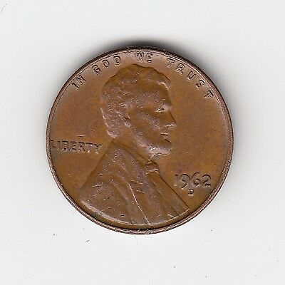 1962D Usa 'lincoln' One 1 Penny/cent - Very Nice Vintage Coin
