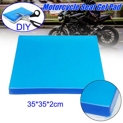 Blue Motorcycle Seat Gel Pad Shock Absorption Mat Comfortable Elastic Cushion