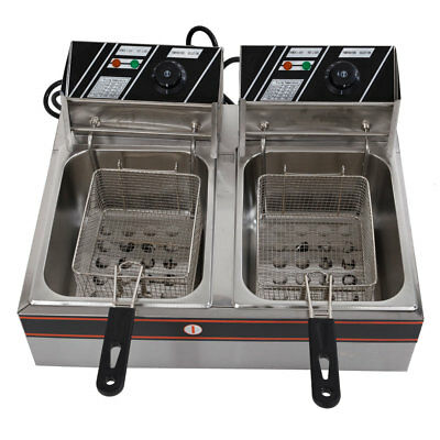 5KW Commercial Home Electric Deep Fryer Countertop 110V Frying Machine Parallel