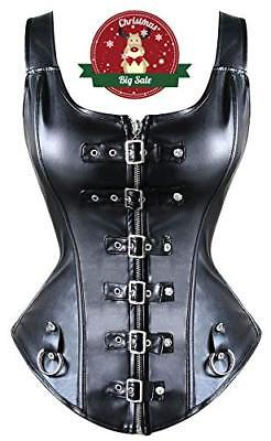 Nero#4 Large Beauty-You Donna Sexy Burlesque Corsetto Ecopelle Cintura (y44)