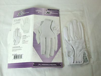 Callaway Women's Synthetic Leather Golf Glove Alura Left Hand Medium Reg White