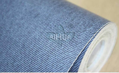 Faux Jean Denim Print PVC Self Adhesive Film Sticker Wall Paper Wallpaper #N2G