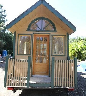Tiny House on Wheels 9 x 22 Country Cottage dual loft 278 sq ft
