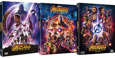 Avengers: Infinity War (2018, DVD, Blu-ray) Slip Case Korean Edition