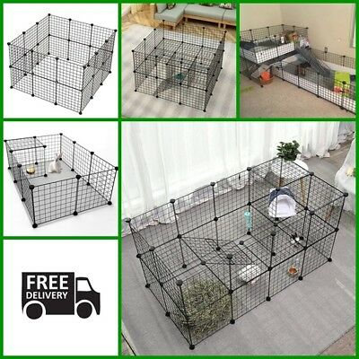 Portable Dog Playpen Cat Pet Cage Indoor Yard Fence, Small Animal Popup Rabbit