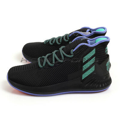 check out f0348 99ced Adidas D Rose 9 BlackGreenPurple Sportstyle Derrick Basketball Shoes  BB8018