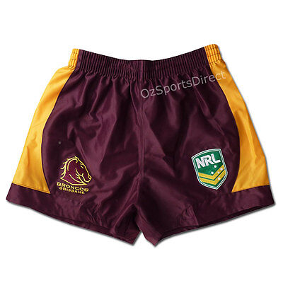 NRL Brisbane Broncos Supporter Shorts KIDS Sizes 6 - 14  **SALE PRICE**